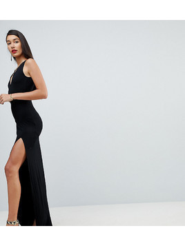 ASOS TALL Maxi Dress with Strappy Detail - Black