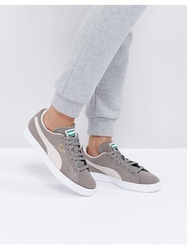 Puma Suede Classic Trainers In Grey - Grey