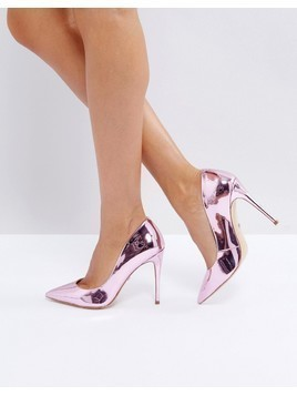 ALDO Stessy Rose Gold Point Court Shoes - Gold