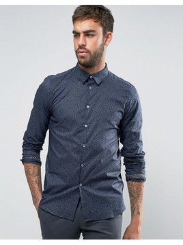 PS by Paul Smith Sprinkles Shirt Slim Fit in Navy - Navy