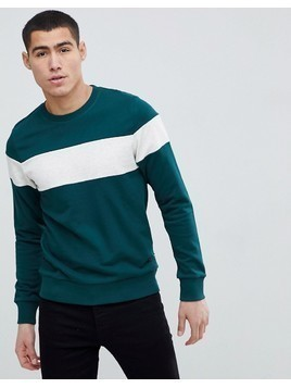 Produkt Sweatshirt With Retro Stripe - Green