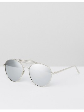 Jeepers Peepers Aviator Sunglasses In Silver - Silver