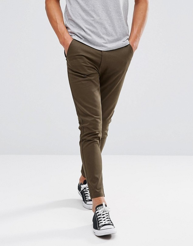 Just Junkies Drop Plain Trousers - Green