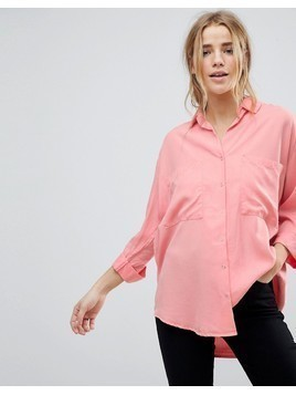 Pimkie Pocket Detail Shirt - Pink