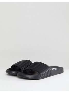 River Island Slider With Quilted Top In Black - Black