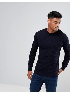 Kronstadt Crew Neck Jumper - Navy