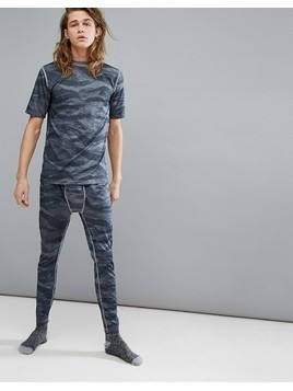 Burton Snowboards Lightweight Baselayer Pants in Grey Tiger Camo - Multi