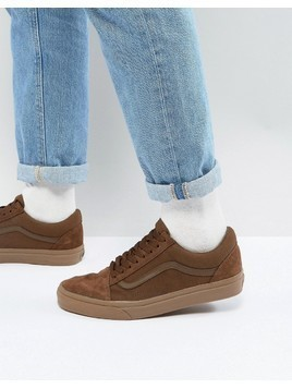 Vans Old Skool Trainers In Orange VA38G1QW2 - Brown
