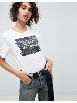 Cheap Monday Breeze Paint Box Logo T-Shirt - White