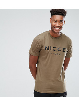 Nicce London TALL Logo T-Shirt In Green - Green
