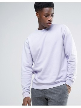 Weekday Steve Washed Sweatshirt - Purple