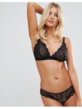 ASOS FULLER BUST Rita Lace Mix&Match Triangle Bra - Black