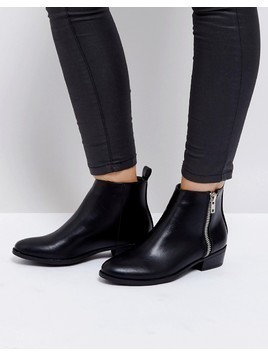 Truffle Collection Low Side Zip Boots - Black