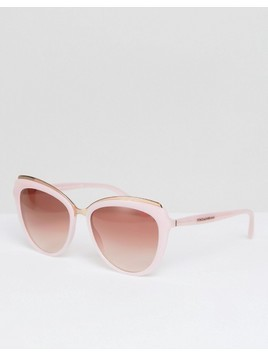 Dolce&Gabbana 0DG4304 Cat Eye Sunglasses In Pink 57mm - Pink