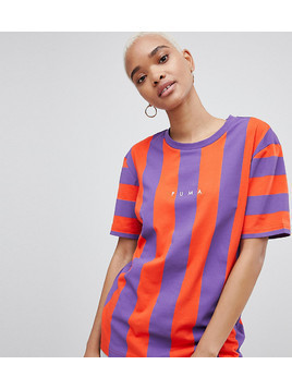 Puma Exclusive To ASOS T-Shirt In Bold Red And Purple Stripe - Purple