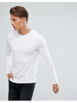 Burton Menswear Long Sleeve White T-Shirt - White