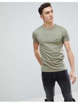 French Connection Long Line Side Zip T-Shirt - Green