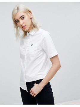 Fred Perry Short Sleeve Oxford Shirt - White