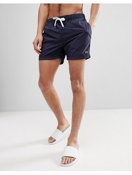 Tommy Hilfiger Short Drawstring Flag Logo Swim Shorts in Navy - Navy