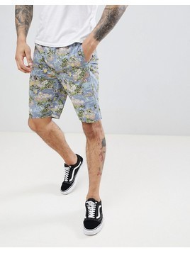 D-Struct Printed Summer Co-ord Shorts - Blue