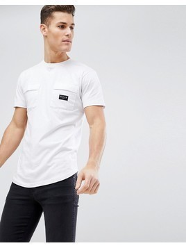 Nicce London T-Shirt With Double Pockets - White