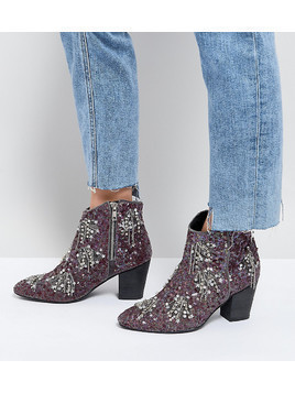 Free People Festival Ankle Boots - Purple