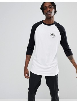 Vans Holder Raglan T-Shirt In White VA36VRYB2 - Grey