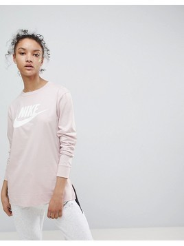 Nike Long Sleeve T-Shirt In Pink - Pink
