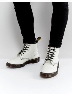 Dr Martens 101 Arc 6 Eye Boots - White