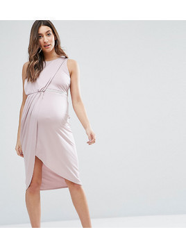 ASOS Maternity Embellished Trim Bodycon Dress - Purple