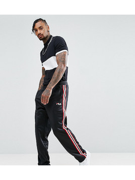 Fila Black Line Poly Tricot Joggers With Side Tape - Black