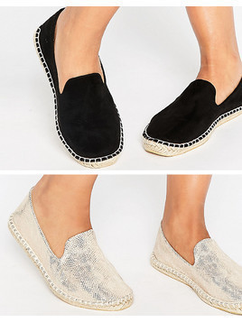 ASOS JEANIE Two Pack Espadrilles - Multi