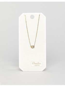 Orelia Love Knot Ditsy Necklace - Gold