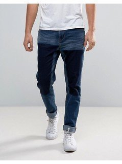 Waven Drop Crotch Skinny Jeans in Trash Blue - Blue
