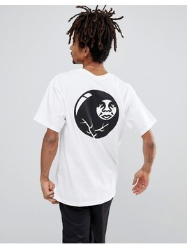 Obey T-Shirt With 8 Ball Icon Back Print In White - White