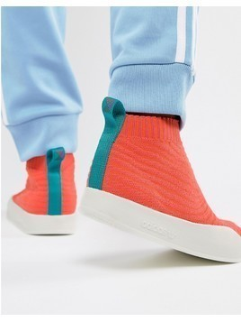 adidas Originals Adilette Primeknit Sock Summer Trainers In Orange CM8227 - Orange