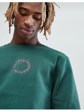 Stussy Sweatshirt With Applique Logo - Green