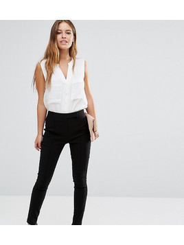 ASOS PETITE High Waist Trousers in Skinny Fit in Shorter Length - Black