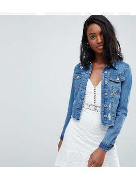 Parisian Tall Cropped Denim Jacket - Blue