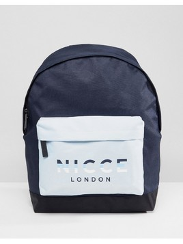 Nicce London Backpack With Rubber Logo - Blue