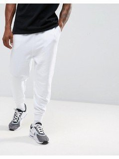 ASOS Drop Crotch Jogger in White - White