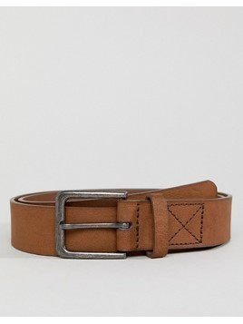 Bershka Wide Belt In Brown - Brown