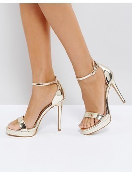 ALDO Madalene Platform Heeled Sandals - Gold