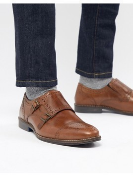 Red Tape Monk Shoes In Tan - Tan