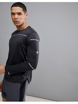 Asics Running Lite-Show Reflective Long Sleeve Top In Black 154232-0904 - Black