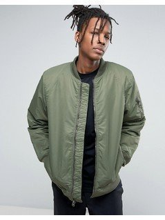 Vans Morro Bomber Jacket In Khaki - Green