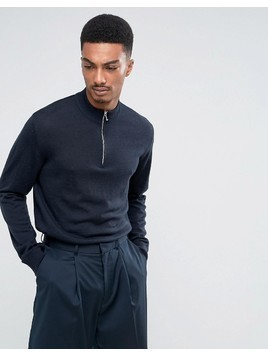 Weekday Brady Merino Jumper - Navy