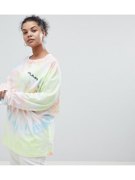 Puma Exclusive To ASOS Plus Long Sleeve T-Shirt With In Tie Dye - Multi