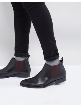 Base London Ramson Leather Chelsea Boots - Black