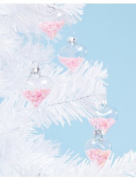 Sass&Bell Pack of 12 Pink Sequin Christmas Baubles - Multi
